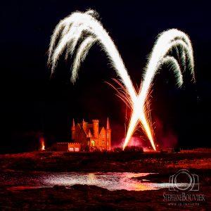 Feu d'artifice Quiberon château Turpault