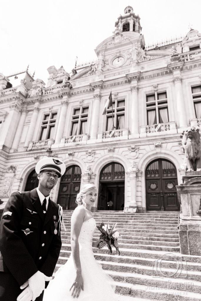 Mariage mairie de Vannes, uniforme armée de l'air