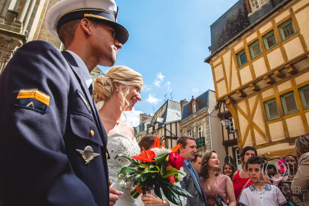 Mariage cathédrale de Vannes, uniforme armée de l'air