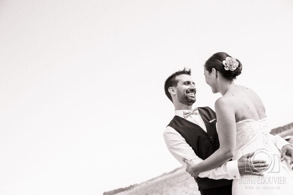 Photos de couple mariage Ile de Berder Golfe du Morbihan