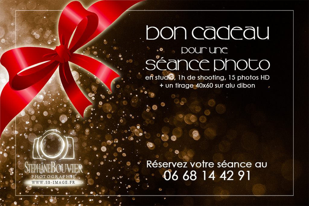 Bon cadeau séance photo studio