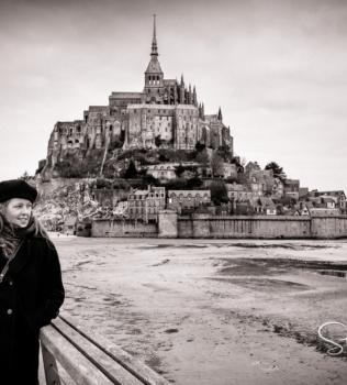 Le Mont-Saint-Michel, avec Maryanne