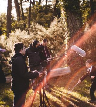 Reportage sur le tournage du court métrage Le Tumulus