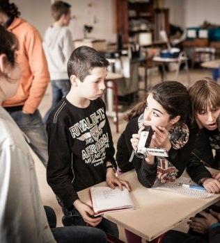 Reportage photo sur l'atelier cinéma au collège d'Elven