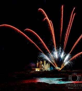 Feu d'artifice au château Turpault à Quiberon